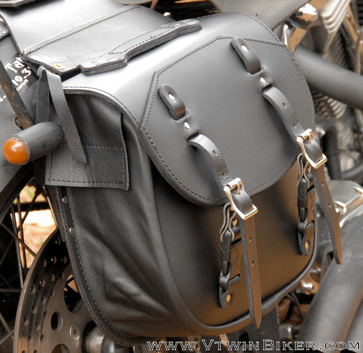 Side view of the Deluxe Saddlebags