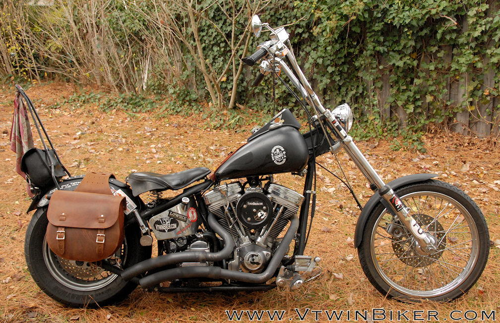 Brown leather saddlebags