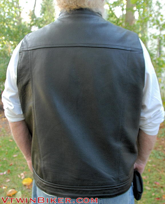 Back of the leather vest.
