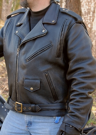 Cowhide Leather Motorcycle Jacket