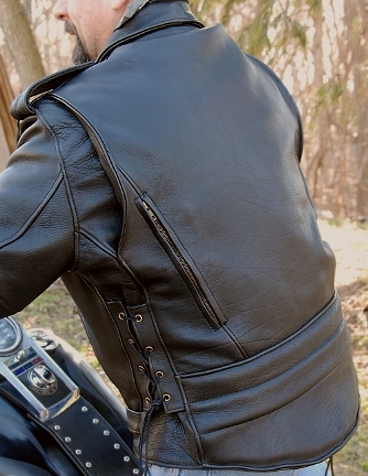 Back View Leather Motorcycle Jacket