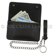Small Trucker Wallet with Chain