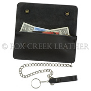 Large Trucker Wallet with Chain
