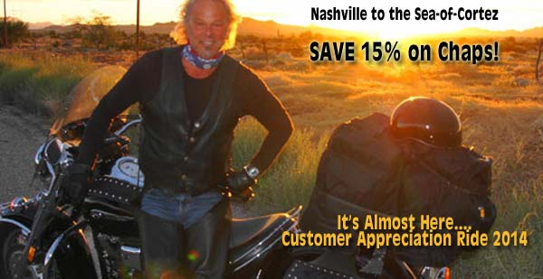 Kenny Marks wearing his Braided Buffalo Nickel Vest from Nashville to the Sea-of-Cortez