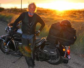 Kenny Marks in his Fox Creek Leather Jacket and Chaps