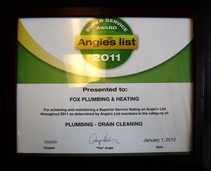 Seattle Award Drain Cleaning 2011