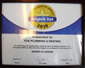 Seattle Award Sewer Cleaning 2010