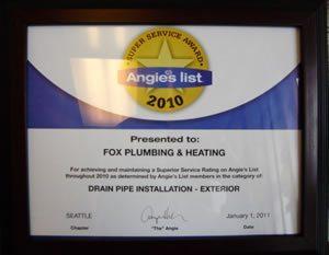 Seattle Award Drain Pipe Installation 2010