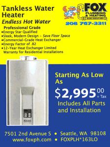 Seattle Tankless Hot Water Heater Deals