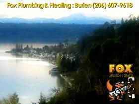 Burien plumbing sewer line and hot water heater repair service