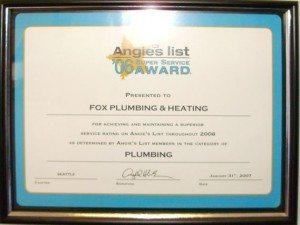 Seattle Plumbing Top Rated Award 2006