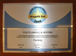 Top Ratings For 2009 Seattle Plumbing