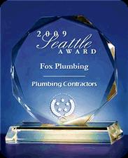Seattle Award, 2009 for Fox Plumbing & Heating