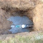 water line install 1