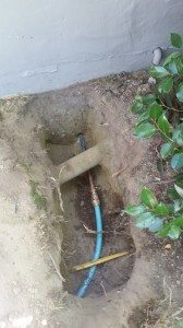 Water line install