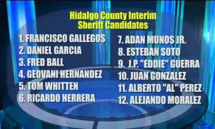 12 Candidates Apply For Interim Hidalgo County Sheriff
