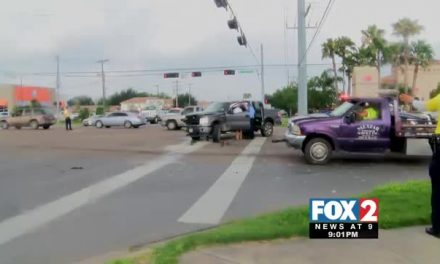 Rollover Accident Shuts Down McAllen Intersection