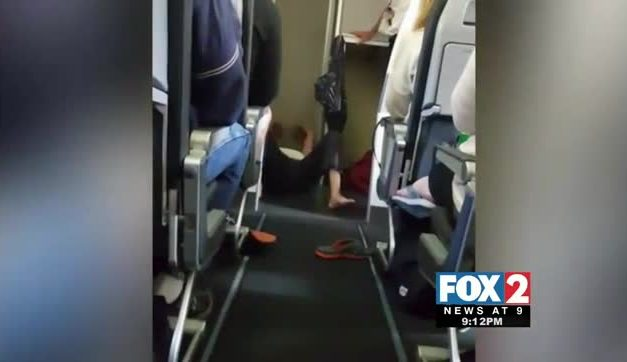 Caught on Camera: Flight Diverted due to Unruly Passenger