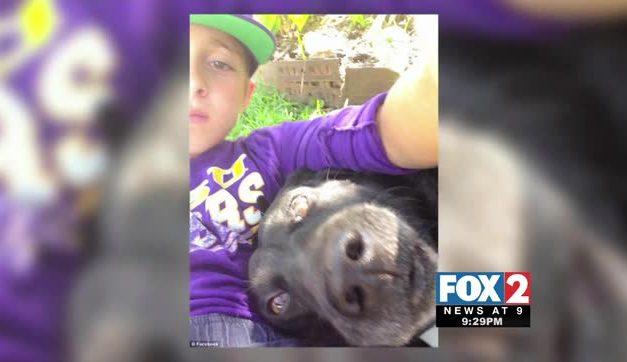 Boy Sneaks Into Neighbor's Garage to Hug Dog