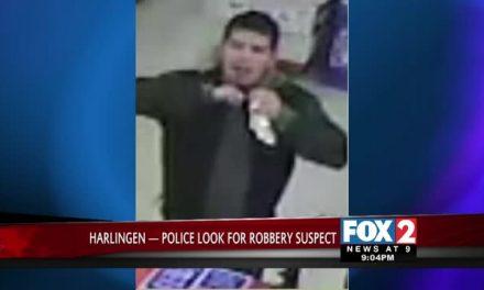 Harlingen Police Look for Robbery Suspect