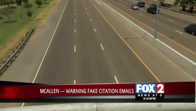 McAllen Fake Citation Email Scam Alert