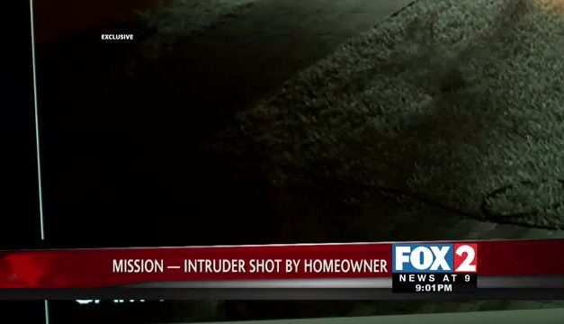 Trespasser shot twice by homeowner in Mission