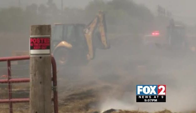 Fire Spreads Over 100 Acres