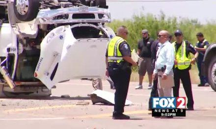 Semi Truck Slams Into Ambulance, 1 Dead, 4 Hospitalized