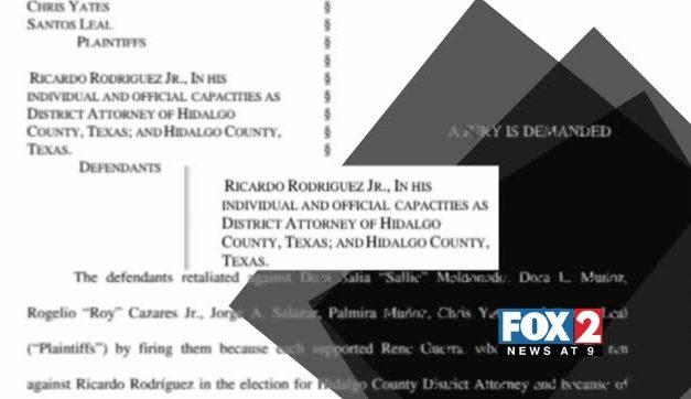 Hidalgo County Employees Sue DA Ricardo Rodriguez