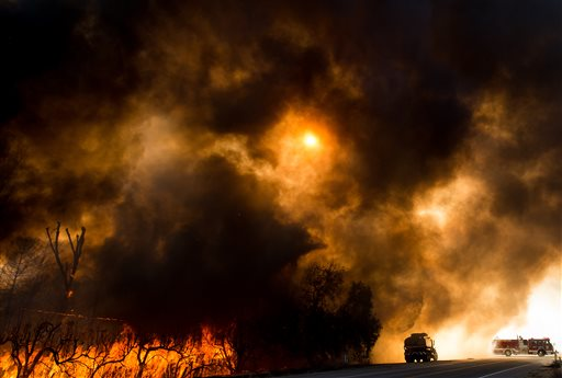 California wildfire brings destruction and uncertainty