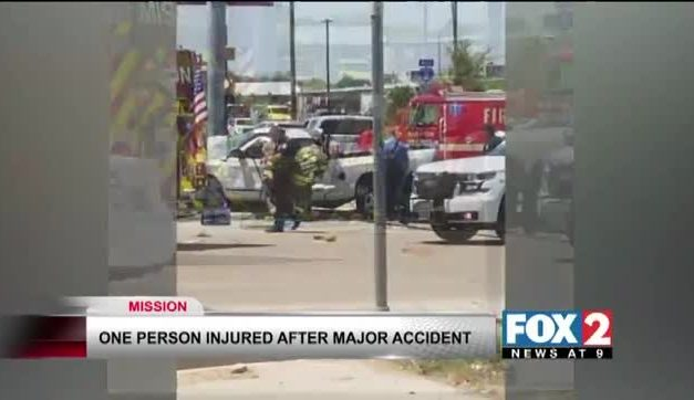 Car Wraps Around Light Pole In Major Accident