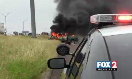 Good Samaritans Save Man From Flaming Truck
