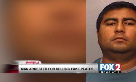 Arrested for selling fake license plates on Facebook