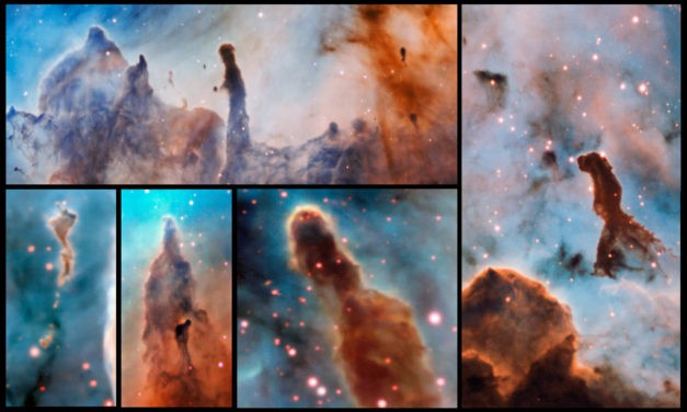 Telescope reveals amazing pillars in star-breeding ground