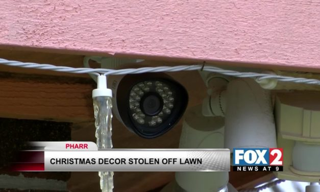 Caught on Camera: Thieves stealing Christmas decorations