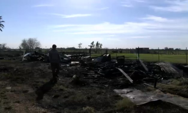 Fire Partially Destroys Property