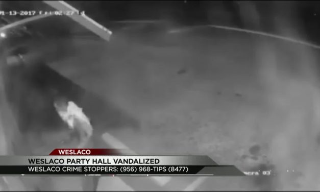 Weslaco Party Hall Vandalized, Suspect Sought