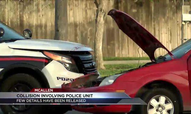 McAllen Police Investigate Patrol Car Accident
