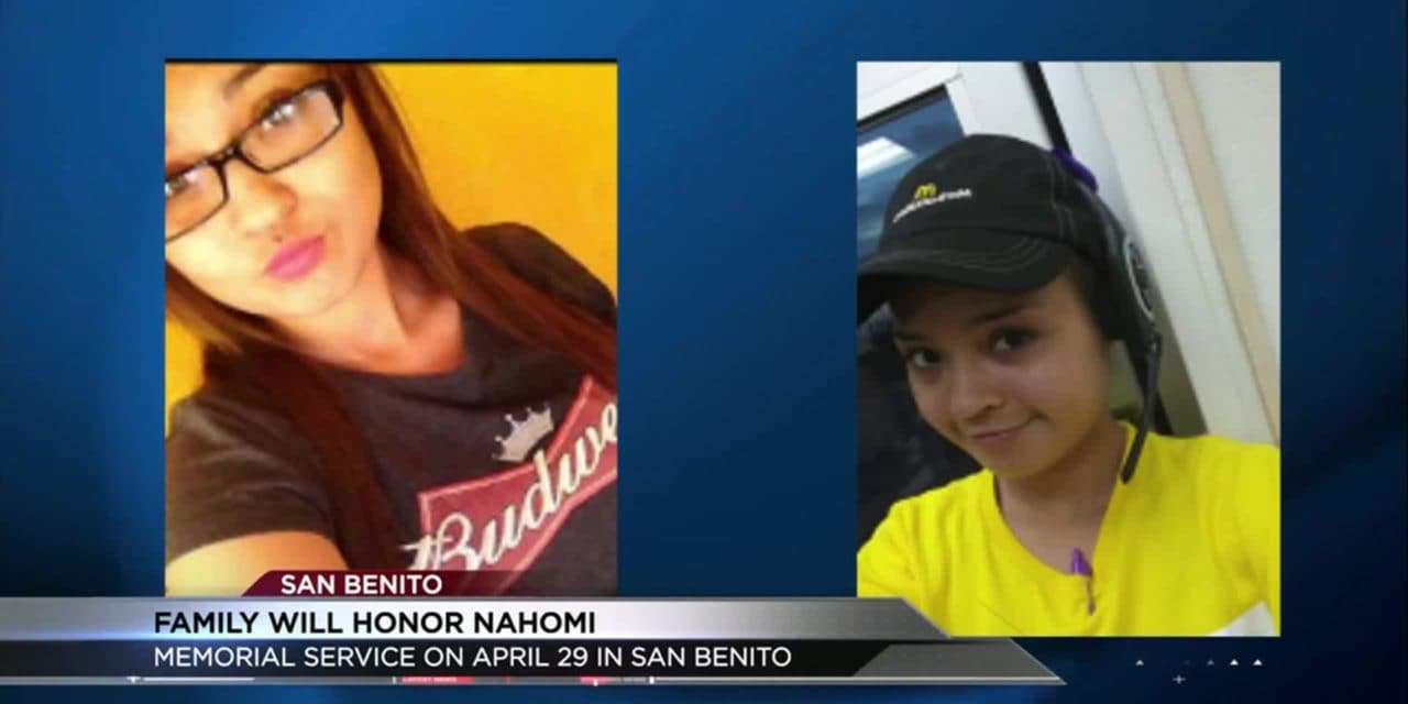 Memorial Service will be held to Honor Nahomi Rodriguez