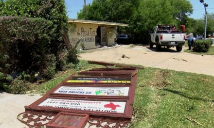 Vehicle Crashes into McAllen Business on Pecan