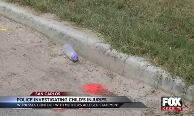 Toddler Hospitalized after falling out of a moving vehicle