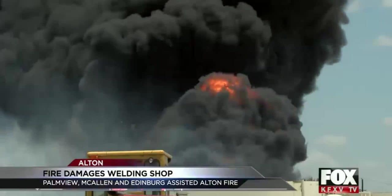 Alton Blaze Damages Welding Shop