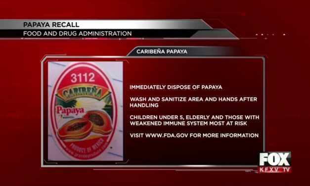 Papaya Recall after salmonella outbreak