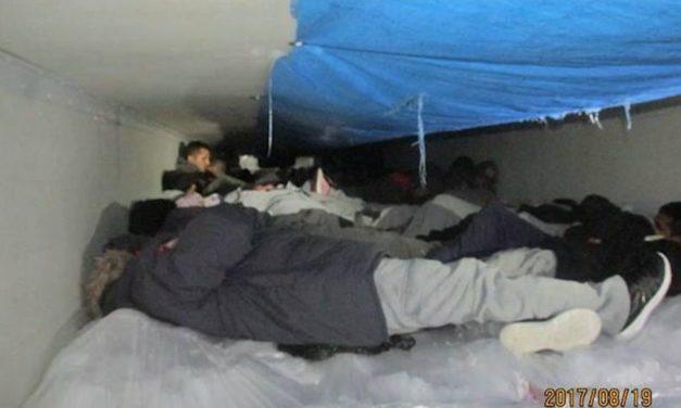 60 Immigrants found in trailer