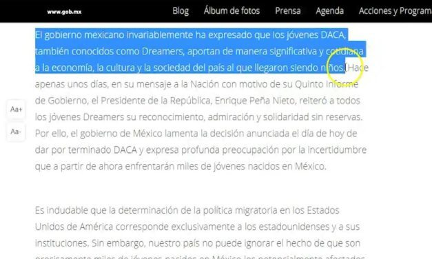 """Mexican government expresses """"profound regret"""" over DACA"""