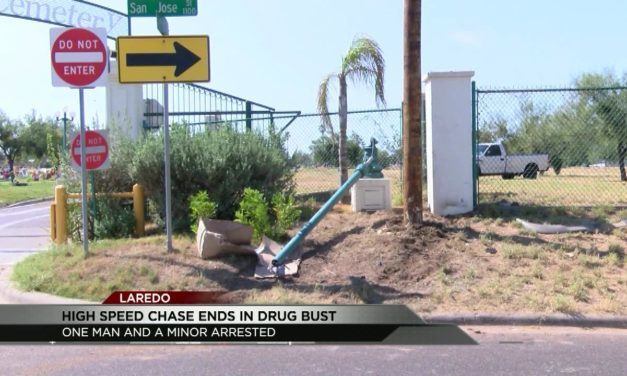 Laredo High Speed Chase ends in Crash and Drug Bust