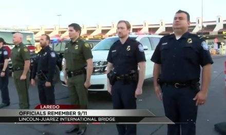 Laredo officials commemorate September 11th at the Juarez-Lincoln International Bridge