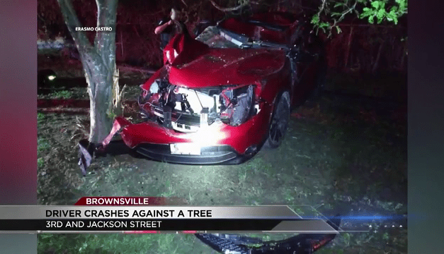 A Brownsville Driver Crashes their Car into a Tree Over the Weekend
