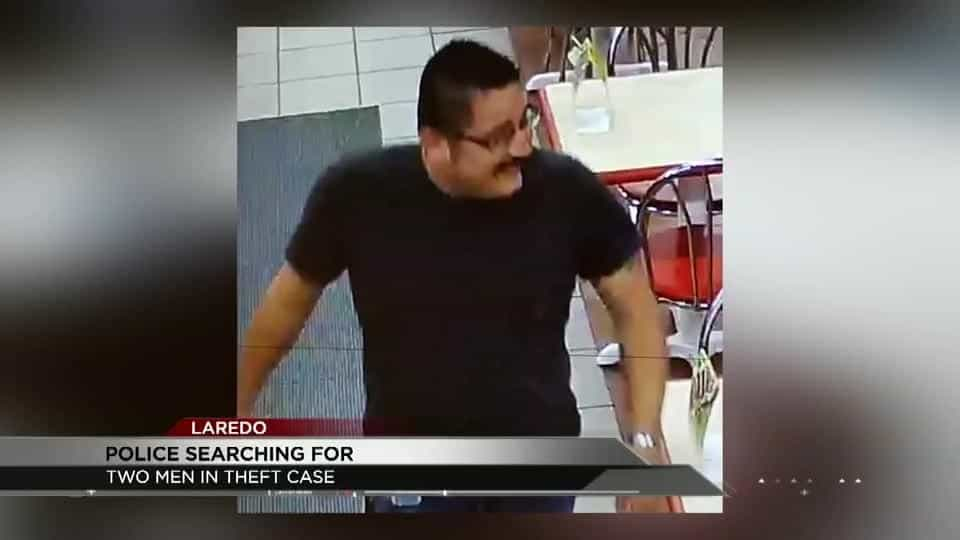 Laredo Police searching for two men in connection to a phone theft