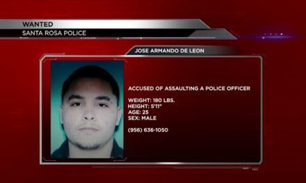 Man accused of assaulting an officer on the run